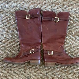 Authentic coach brownish red riding boots